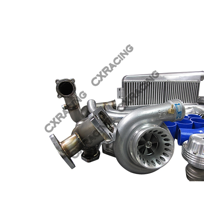 Twin Turbo Kit For 79-93 Ford FoxBody Mustang 5 0L Dual GT35 900 HP