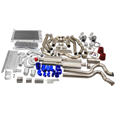 Twin Turbo Kit Intercooler Catback Exhaust Radiator For 68-72 Chevelle SBC