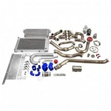 Single Turbo Header Downpipe Intercooler Radiator Kit for 68-72 Chevelle LS1 LSx