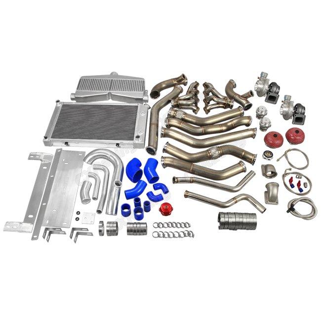 Ls1 Engine Twin Turbo: Twin Turbo Header Downpipe Intercooler Radiator Piping Kit