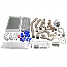 Turbo Kit Intercooler Piping Radiator For 68-72 Chevrolet Chevelle SBC Small Block