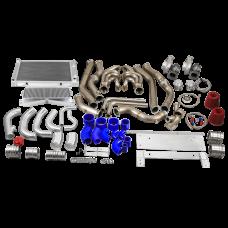 Twin Turbo Kit Intercooler Piping Radiator For 68-72 Chevrolet Chevelle SBC