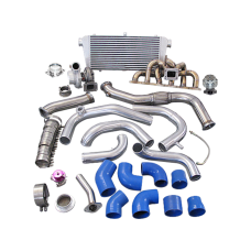 Single GT35 Turbo Kit + Manifold Downpipe For 240SX S13 S14 RB20 RB25 450HP