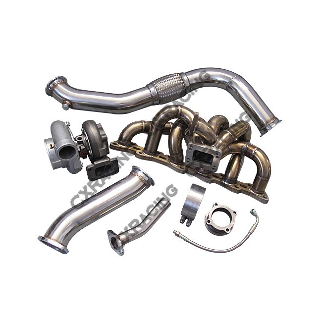 Manifold GT35 Turbo Downpipe Upgrade Kit For 240SX S13 S14