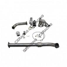 Turbo Intercooler kit + Manifold Downpipe For 240SX S13 S14 SR20DET GT35 Bolt On