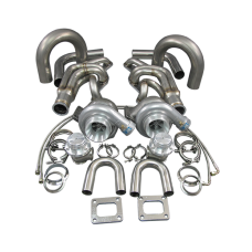 GT35 Twin Turbo DIY Kit For Small Block Chevy SBC GM 302 305 307 327 350 400