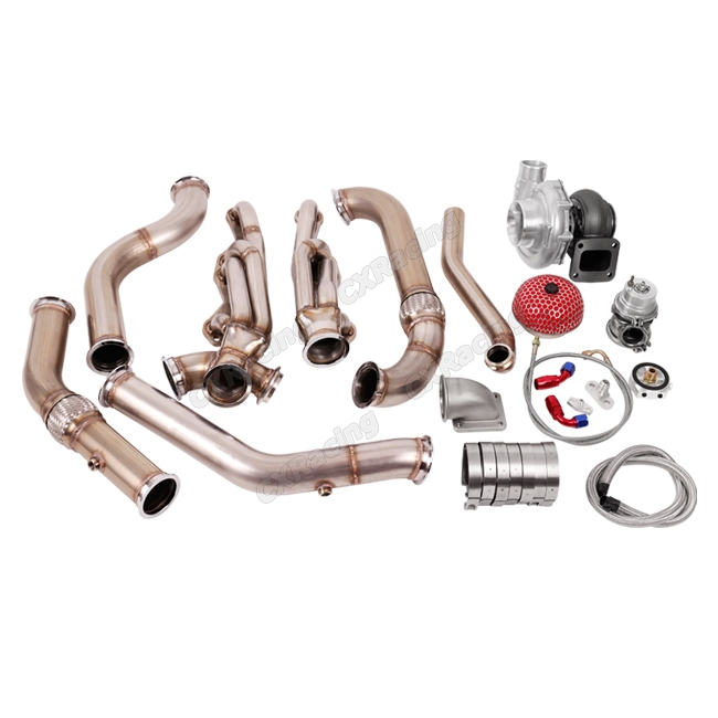 Turbo Header Manifold Downpipe Kit For 67-69 Camaro SBC