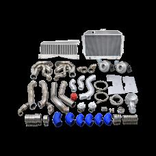 Twin Turbo Intercooler Radiator Kit For 60-66 Chevy C10 Truck SBC Small Block