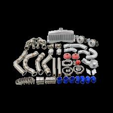 Twin Turbo Manifold Intercooler Kit For 65-70 Chevrolet Impala SBC Small Block