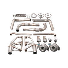 Twin Turbo Manifold Downpipe Kit for 67-76 Dodge Dart Small Block SBC