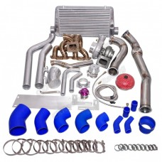 Turbo Manifold Downpipe Intercooler Kit For SR20DET 240Z/260Z/280Z Stock Intake