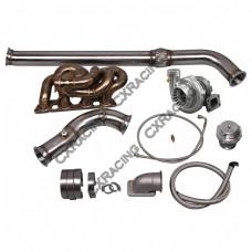 GT35 Turbo Manifold Downpipe Kit For Datsun 510 SR20DET Engine Swap