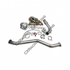 Turbo Kit Manifold + Downpipe For 93-02 Toyota Supra MK4 2JZ-GTE