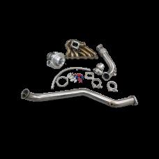 Turbo Kit Manifold + Downpipe For 93-02 Toyota Supra MK4 2JZ-GTE