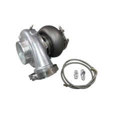 GT45 GT45R Ball Bearing Turbo Charger 80mm T4 1.15 A/R 900+ HP + Oil Line + Flange Kit