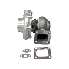 """T72 .81 A/R P Trim Ceramic Ball Bearing Turbo Charger T4 3"""" V-band Hot Side"""
