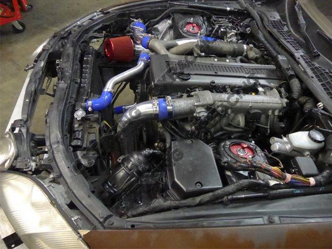 Air Intake Pipe Filter Kit For Lexus SC300 1JZ-GTE Twin Turbo 1JZGTE-BLACK