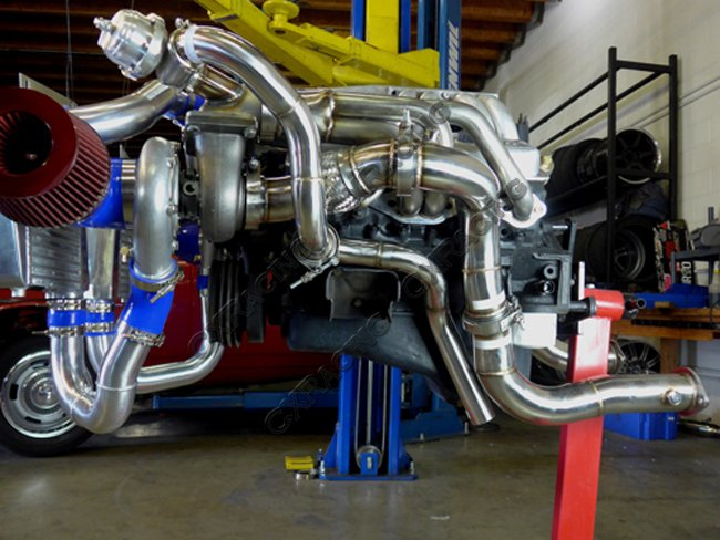 twin turbo header manifold downpipe kit for 63 67 chevelle. Black Bedroom Furniture Sets. Home Design Ideas