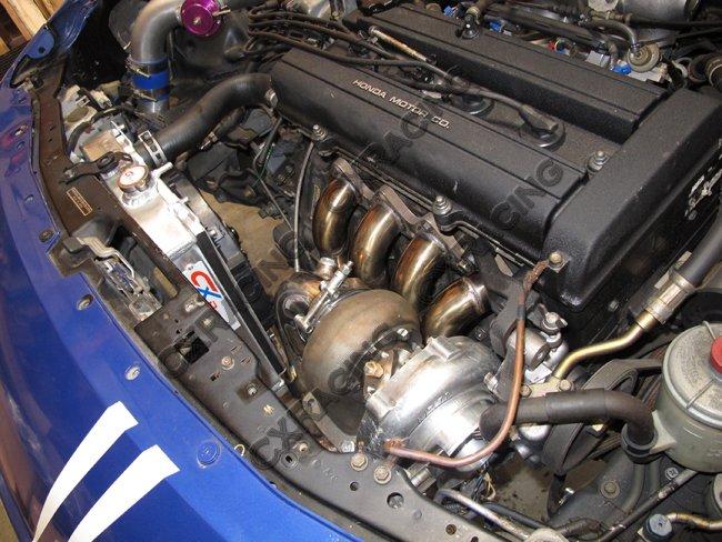 CXRacing T3/T4 Top Mount Turbo Manifold For Honda Civic