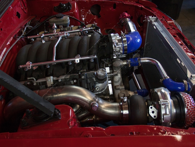 Turbo Header Manifold Downpipe Kit For 79-93 Ford Mustang LS1 LSx Swap