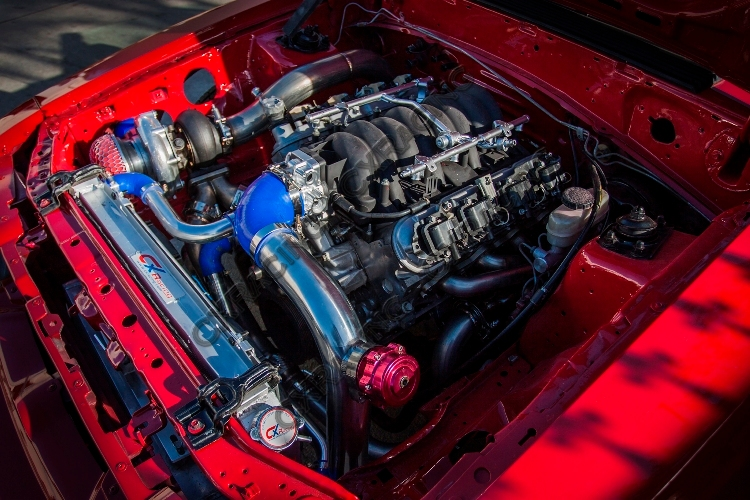 65 Mustang Parts >> Turbo Header Manifold Downpipe Kit For 79-93 Ford Mustang LS1 LSx Swap