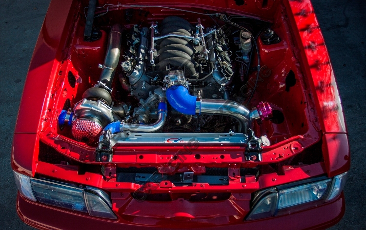 Mustang Performance Parts >> Turbo Header Manifold Downpipe Kit For 79-93 Ford Mustang LS1 LSx Swap