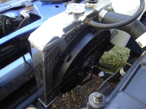 "12/"" Fan For 92-00 Civic DEL SOL B16 B18 CXRacing 3 Row Aluminum Radiator"