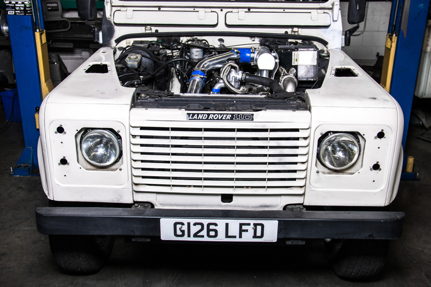 Turbo Downpipe Intercooler Upgrade Kit for 83-90 Land Rover Defender