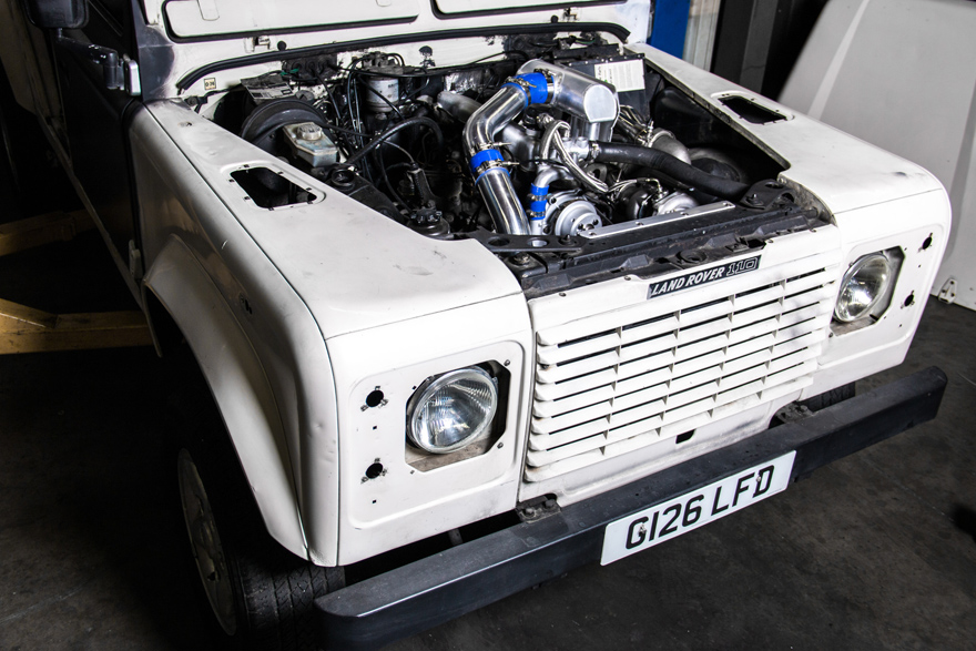 Turbo Intake Manifold Downpipe Kit For Land Rover Defender ...