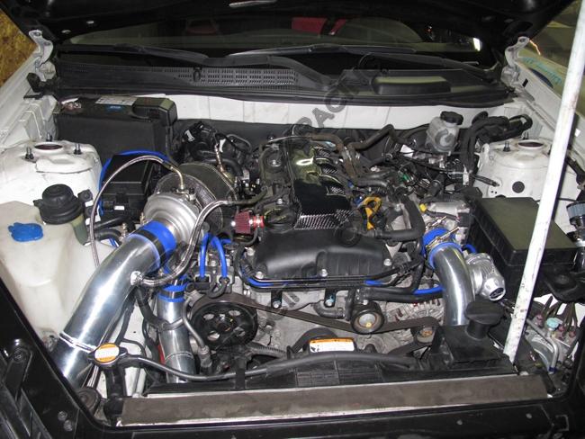 Top Mount Gt35 Turbo Intercooler Manifold Kit For 08