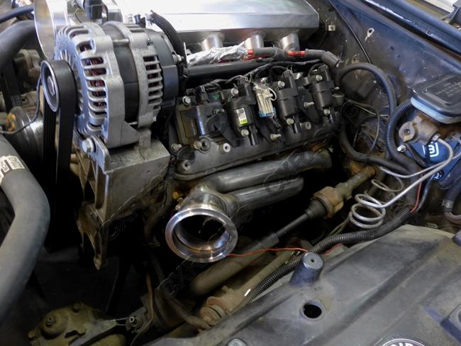 Twin Turbo Header Intercooler Kit For G-Body LS1 LS Motor Cutlass